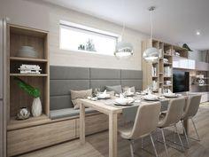 Moderné Rodinné domy v atraktívnej lokalite NA PEKNOM POLI Dining Table, Furniture, Home Decor, Pulley, Decoration Home, Room Decor, Dinner Table, Home Furnishings, Dining Room Table