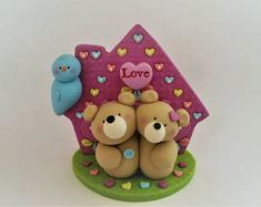 Bear Pair - Polymer Clay - Valentine's Day