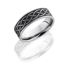 Celtic Knot Titanium Wedding Ring