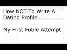 how to write an online dating profile for a man