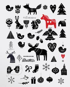 Scandinavian style Christmas bundle by Marish on @creativemarket