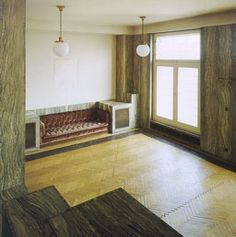 adolf loos interiors built in settee
