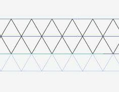 line drawing triangles repeat - Google Search