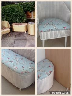 Lloyd Loom before and after Vintage Furniture For Sale, Funky Furniture, Upcycled Furniture, Home Furniture, Painted Furniture, Shabby Chic Bedroom Furniture, Shabby Chic Chairs, Shabby Chic Homes, Shabby Chic Upcycling