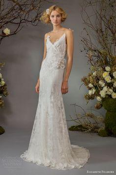 elizabeth fillmore fall 2014 bridal willa wedding dress straps -- Elizabeth Fillmore Fall 2014 Wedding Dresses