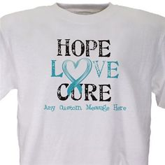 Personalized Cancer Awareness T Shirt | Hope Love Cure Cancer Awareness Shirt