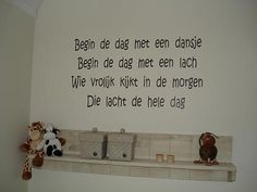 Spreuken op de muur in de slaapkamer #kinderkamer | Texts for the wall #bedroom #kidsroom