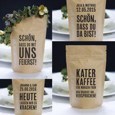 Coffee48329: Gastgeschenke Hochzeit - Meet me at home