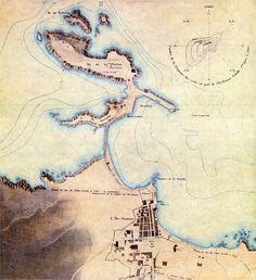 Ile Rousse, carte ancienne. Corse
