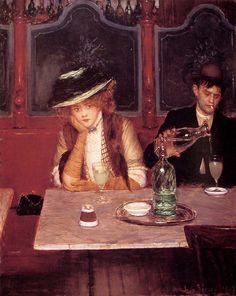 Jean Beraud  Paintings-The Drinkers, 1908