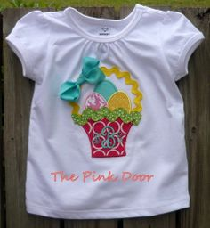 Easter Appliqued Tshirt by nwalkercreations on Etsy, $25.00