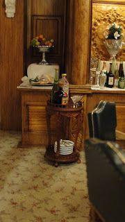 De Titanic in miniatuur.: The Dining salon weer wat aangevuld.