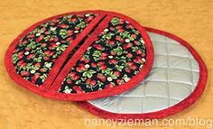 Holiday Sewing Round Up: Fast Projects and Sewing Tutorials for Christmas by Nancy Zieman - Festive Pot Holders with Novelty Fabrics Small Sewing Projects, Sewing Hacks, Sewing Tutorials, Sewing Crafts, Sewing Tips, Nancy Zieman, Potholder Patterns, Sewing Patterns, Crochet Patterns