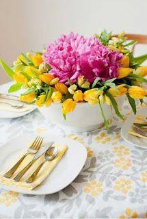 Decora tu mesa con flores naturales