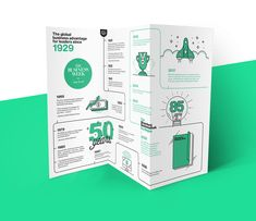 Creative Brochure Design Ideas & Examples - Daily Design Inspiration - Venngage Gallery Need some new ideas to help you create the perfect creative brochure? Check out some of these beautiful & professional creative brochure design ideas! Brochure Indesign, Template Brochure, Brochure Examples, Brochure Layout, Brochure Trifold, Corporate Brochure, Pamphlet Design, Leaflet Design, Booklet Design