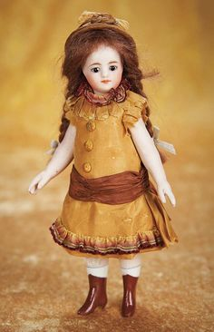 "French All-Bisque Mignonette with Brown Boots, 6"" (15 cm.) Theriault's Antique Doll Auctions"
