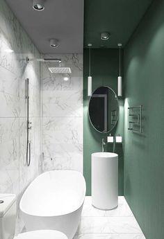 42 Beautiful, minimalist bathroom design ideas that are luxuriously . - 42 Beautiful, minimalist bathroom design ideas that look luxurious - Minimalist Bathroom Design, Bathroom Design Small, Bathroom Interior Design, Modern Bathroom, Minimalist Layout, Bathroom Green, Bathroom Accents, Bathroom Colors, Bath Design