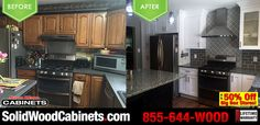 Awesome #beforeandafter picture sent in by our very happy and satisfied customer! Kris works in our Warminster Showroom. #kitchencabinets #kitchendesign #homeimprovement #countertops #granite #granitecountertops #solidwoodcabinets #factorydirect #wholesalecabinets #discountcabinetry #kitchencabinetry #allwoodcabinets #kitchenappliances
