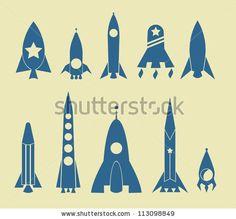 Dibujo de cohetes espaciales