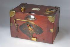 Luzo Camera. 1891-1901  Description: Luzo camera in ever ready case, made by H J Redding & Gyles in England, c. 1896...