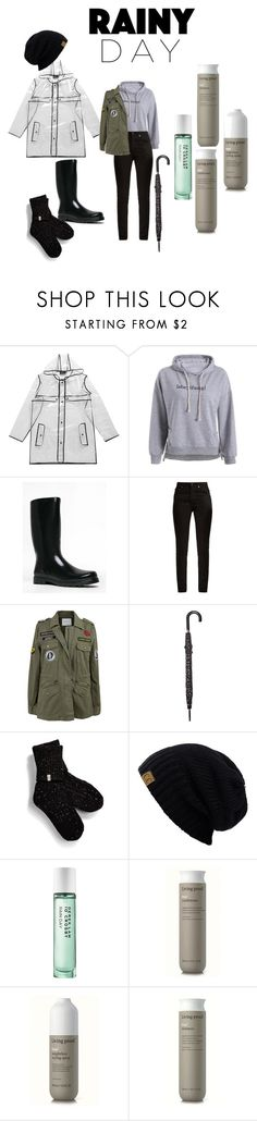 """rainy day"" by hayeskyrstin ❤ liked on Polyvore featuring Boohoo, West Blvd, Yves Saint Laurent, Velvet by Graham & Spencer, Lulu Guinness, UGG and Living Proof"
