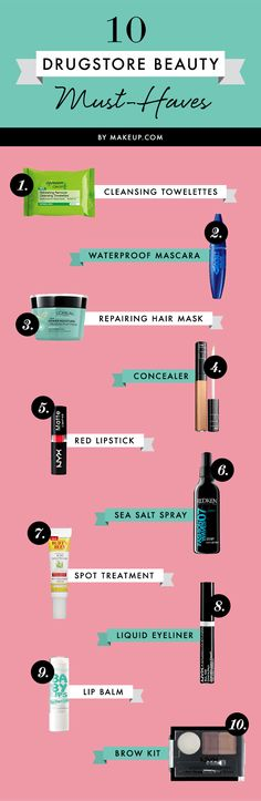 10 drugstore beauty must-haves #makeup #haircare #hairstyle