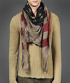 nice. my husband doesn't know if he would wear this either, but I would! Now, whether or not I'd pay $250 for a scarf is a whole other story...