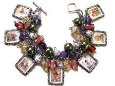 Vintage Fairies Charm Bracelet Handmade by MoonstruckBoutique