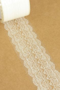 Transparent Wide Lace Deco Tape Pattern No. 4 - 4.8cm x 15m (49 ft). $5.50, via Etsy.