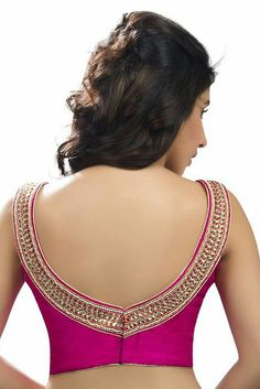 55 Trendy blouse back neck designs with borders for sarees 41 Latest pattu saree blouse designs to t Blouse Designs High Neck, Pattu Saree Blouse Designs, Fancy Blouse Designs, Saree Blouse Patterns, Kurti Neck Designs, Skirt Patterns, Coat Patterns, Sewing Patterns, Vetement Fashion