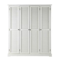 Guardaroba bianco in legno L 170 cm