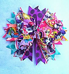 Buy My Little Pony Equestria Girl Party Bow by christibowtique. Explore more products on http://christibowtique.etsy.com