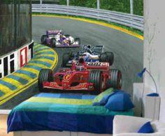 Race Car Wall Murals