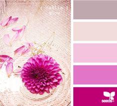 Baby girl room colors purple design seeds 52 new Ideas Colour Schemes, Color Patterns, Color Combos, Colour Chart, Rose Fushia, Magenta, Design Seeds, World Of Color, Color Pallets