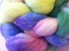 Handpainted Merino Wool Roving  41oz  green by beautifulyeah, $14.99