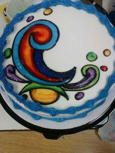 Dairy Queen Pop art cake?