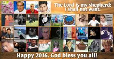 New Year mosaic with Psalm 23, and 30 friends! Create Yours!