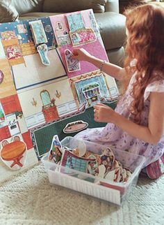 I had this exact dollhouse felt board!  I'd love to have it again for my kids in the future, or a more updated version... :) I would love to make my own somehow...