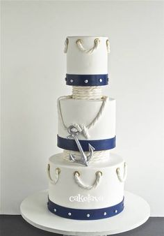 anchor wedding cake box nautical wedding cake lie the starfish on it but not the 10749