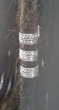Hey, I found this really awesome Etsy listing at https://www.etsy.com/listing/168039303/3-x-sterling-silver-dreadlock-leaf