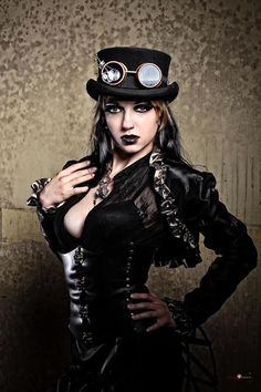 Steampunk girl Model Elizabeth Noir Designer Twig Noir Hair Emma Harris Assistant Z MUA Alissa Production Colour Law Photographer Chuck Coleman