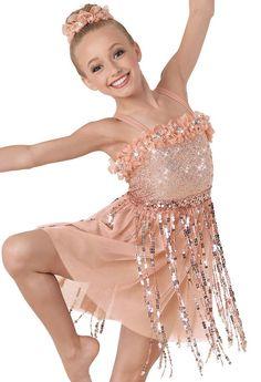L Lyrical Glitter Lace Dance Costume ROCK YOUR SOUL Child M XL