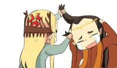 "thranduil:""where is my son!!!!"" elrond:""AAAAAAAAAAA"" GIF original action:キルミーベイベー Thranduil after he finds out Elrond sent his son on a life threatening mission"