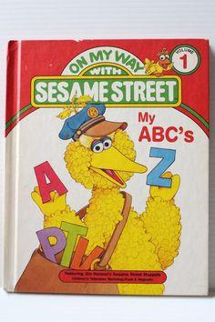 SESAME STREET Book My ABC'S book 1989 Vintage by TheJellyJar