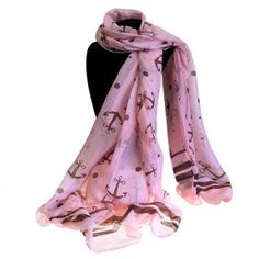 Wholesale Scarves Ancors And Dots - Extra Large Scarves Our amazing wholesale neat & Nautical collection of scarves is really beautiful and top high quality. Made from 65% Viscose and 35% Polyester.   These scarves comes in large sizes and  feature a fantastic selection of unique anchor designs and colours. Very comfortable to wear in any time of the year, very soft and lightweight scarves.  #Wholesale_Scarves #Scarves_Wholesale #Pink_Scarves #Scarves_Pink #Scarves_Sea #Scarves_Nautical