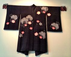 Vintage Kimono with elegantly placed plum blossoms.