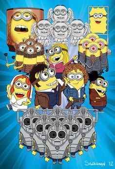 Dr. Who Minions… The Face of Boe, Weeping Angels, Cassandra, Daleks, Rose Tyler, the Ood, Donna Knoble, 10, River Song, Martha Jones, and Cybermen. Woot woot!