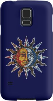 #iphoneart, #celestial, #sunandmoon, #stickers, #mosaic, #psychedelic