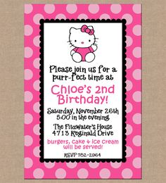 12 Personalized Printed Girl Pink Hello Kitty by ohsuzyqdesigns, $13.95