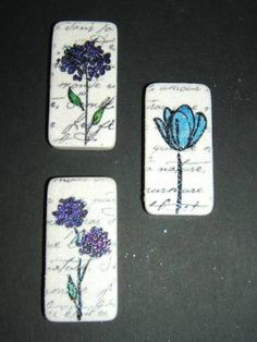 Pretty Dominoes by AngelinYTH - Cards and Paper Crafts at Splitcoaststampers Tile Crafts, Resin Crafts, Jewelry Crafts, Paper Crafts, Domino Crafts, Domino Art, Scrabble Art, Scrabble Tiles, Domino Jewelry